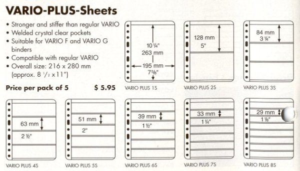 Lighthouse Vario Plus 2 Pocket BLACK Stock Sheets #LHV2SP