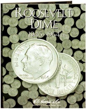 HE Harris Coin Folder Roosevelt Dime No. 1, 1946-1964 #HECF2684