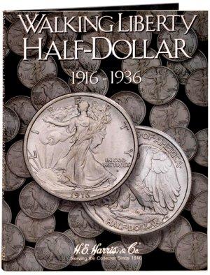HE Harris Coin Folder Walking Liberty Half Dollar No. 1, 1916-1936 #HECF2693
