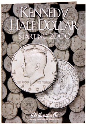 HE Harris Coin Folder Kennedy Half Dollar No. 3, 2000-2005 #HECF2942