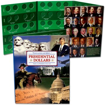 Littleton 2007-2016 U.S. Presidential Dollar Color PD Collection Folder LCF36
