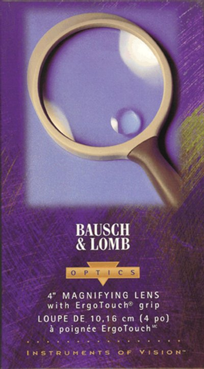 Bausch and Lomb  4 inch hand held magnifier - No. 813304.  #MagBL4