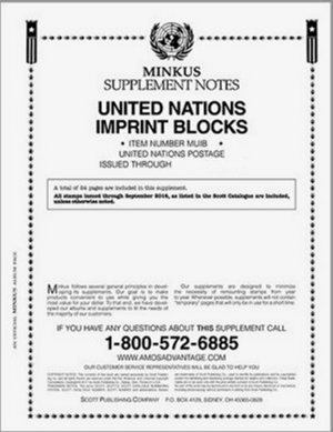 MINKUS UNITED NATION IMPRINT BLOCKS 2014  #MKUNIB14