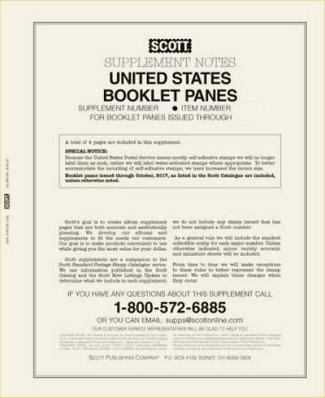 Scott US BOOKLET PANES 2015  #SCUSBP15