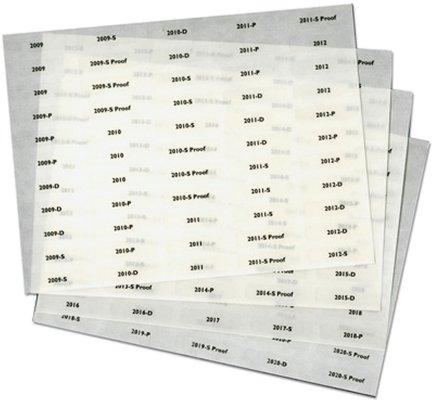 Littleton Folder Date Labels, 55 per page, 4 pages per set LCX926