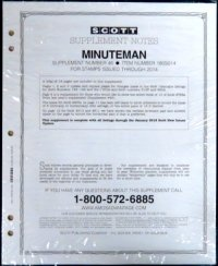 Scott US MINUTEMAN Supplement #44 2012  SCMM12
