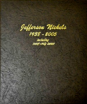 Dansco Album Jefferson Nickels 1938-2005S including proofs DN8113