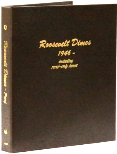 Dansco Album Roosevelt Dimes 1946-2023S including proofs <p><B>*TEMPORARILY OUT OF STOCK*<B><p> DN8125