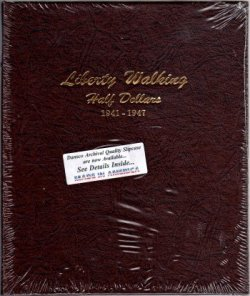 Dansco Album Liberty Walking Half Dollar 1941-1947 DN7161