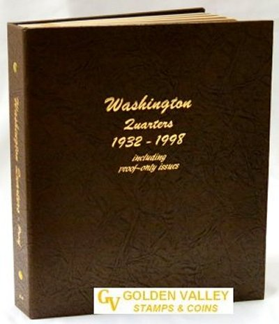 Dansco Album Washington Quarters 1932-1998 including proofs DN8140