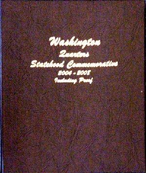 Dansco Album Washington statehood Quarters 2004-2008 including proofs DN8144