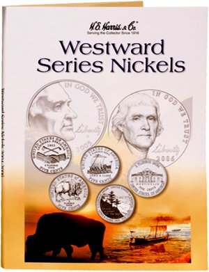 HE Harris Coin Folder Jefferson Westward Series Nickels 2004 - 2006 HECF2224