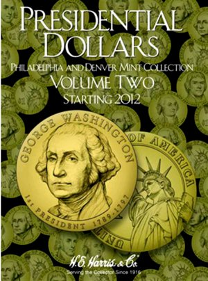 HE Harris Coin Folder  Presidential Dollar Folder Vol. 2 - PD Mint 2012-16 HECF2278