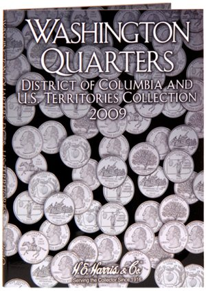 HE Harris Coin Folder DC  TERR Quarter Folder No. 3, 2009 PD HECF2640