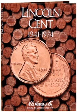 HE Harris Coin Folder Lincoln Cent No. 2, 1941-1974 HECF2673