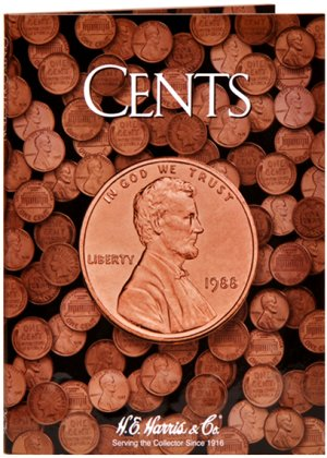 HE Harris Coin Folder Cents - Plain Folder  HECF2676