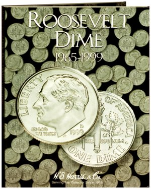 HE Harris Coin Folder Roosevelt Dime No. 2, 1965 - 1999 HECF2685