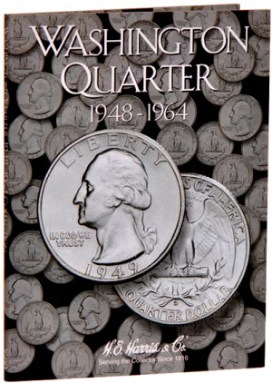 HE Harris Coin Folder Washington Quarters No. 2, 1948-1964 HECF2689