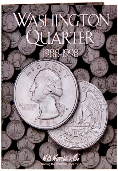 HE Harris Coin Folder Washington Quarters No. 4, 1988-1998 HECF2691