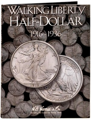 HE Harris Coin Folder Walking Liberty Half Dollar No. 1, 1916-1936 HECF2693