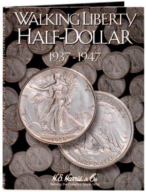 HE Harris Coin Folder Walking Liberty Half Dollar No. 2, 1937-1947 HECF2694