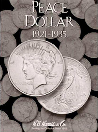 HE Harris Coin Folder Peace Dollar, 1921-1935 HECF2709