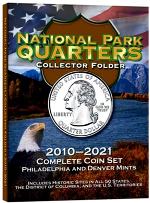 HE Harris Coin Folder National Park 7x9 Quarter Folder, 2010-2021, PD, 120 COIN HECF2879
