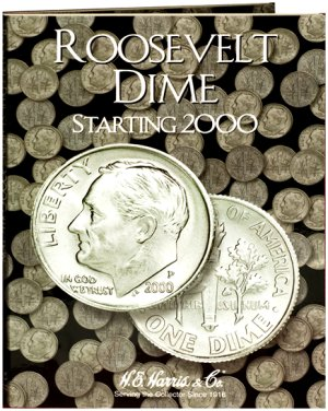 HE Harris Coin Folder Roosevelt Dime No. 3, 2000-2008 HECF2941