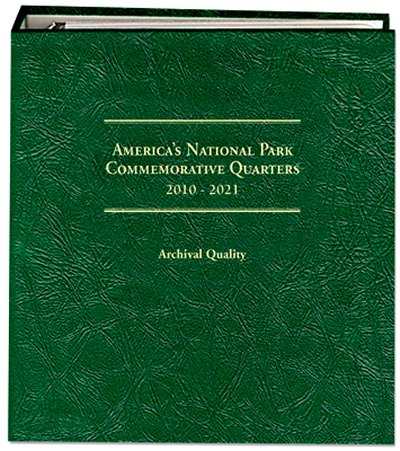Littleton National Park Quarters Album Volume 1,  P D S  Sil Mints 2010-2015 LCA74D