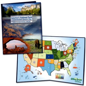 Littleton National Park Quarters Map - Traditional, 2010-2021 #LCLGB2D