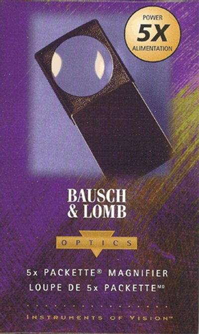 Bausch and Lomb 5x Pocket Slide Mag/Glass - No. 813133 MAGBLP
