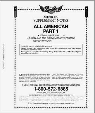 MINKUS All-American Part 1 (USA Regular  Commems) 2016  MKALLAM116