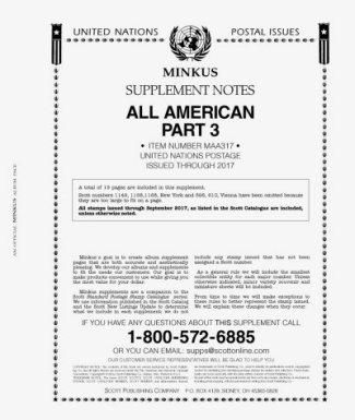 MINKUS All-American Part 3 (United Nations) 2017 MKALLAM317
