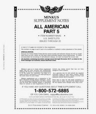MINKUS All-American Part 5 (USA Sheetlets) 2016 MKALLAM516