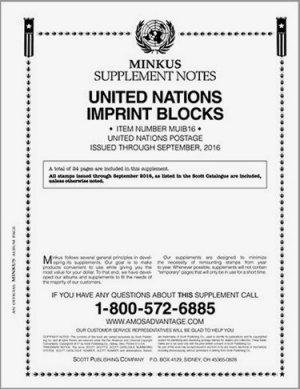 MINKUS UNITED NATION IMPRINT BLOCKS 2016 MKUNIB16