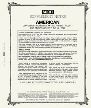 Scott US AMERICAN Supplement 2017 SCAM17