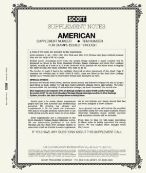 Scott US AMERICAN Supplement 2016 SCAM16