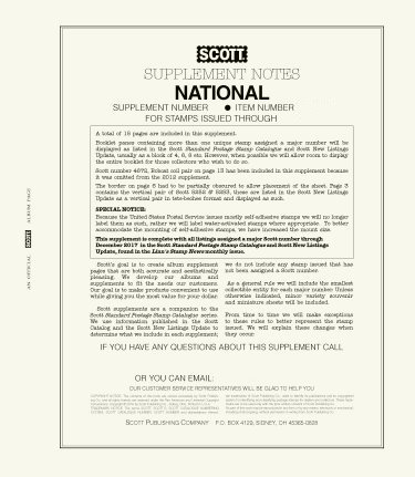 Scott US NATIONAL Supplement 2016 SCUSNAT16