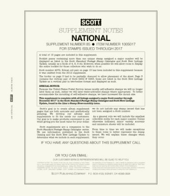 Scott US NATIONAL Supplement 2017 SCUSNAT17