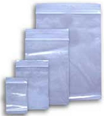 Poly Pak Ziplock Bags 2x3 w/write-on Pack of 100 ZL23w