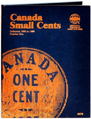 Whitman Canadian Coin Folder Small Cents Volume I 1920-1988 WH2479