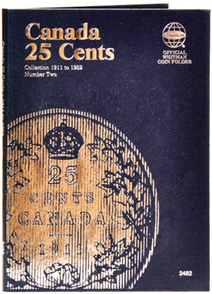 Whitman Canadian Coin Folder 25 Cents Volume II 1911-1952 WH2482