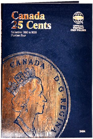 Whitman Canadian Coin Folder 25 Cents Volume IV 1990-2000 WH2484