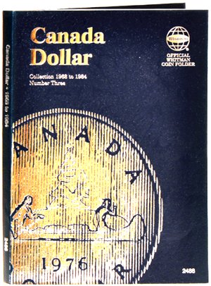 Whitman Canadian Coin Folder Dollars Volume III 1968-1986 WH2488