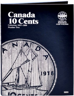 Whitman Canadian Coin Folder 10 Cents Volume II 1937-1989 WH3203