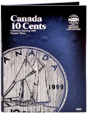 Whitman Canadian Coin Folder 10 Cents Volume III 1990-DATE WH3204