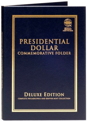 Whitman Deluxe Presidential Dollar Commemorative Folder 2007-2016 PD WH82382