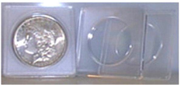 Whitman Silver Round 2x2 Plastic Holder #WH9736