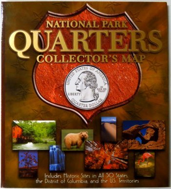Whitman National Park Quarters Collector's Map - 10X11, 2010-2021 WHMAPNPC